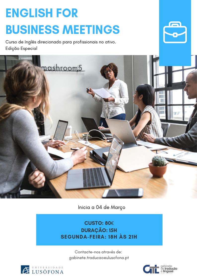 Edição Especial- Curso Livre de Inglês para Reuniões de Trabalho