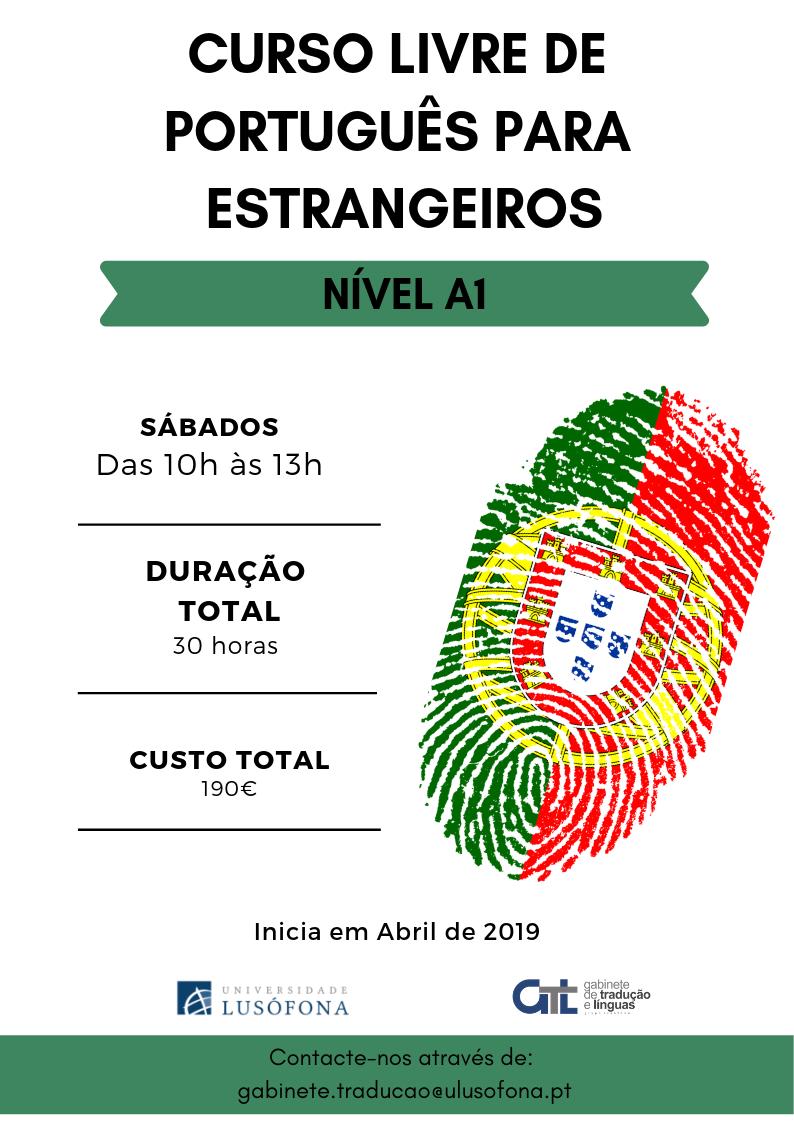 Inscrições Abertas- Curso Livre de Português para Estrangeiros