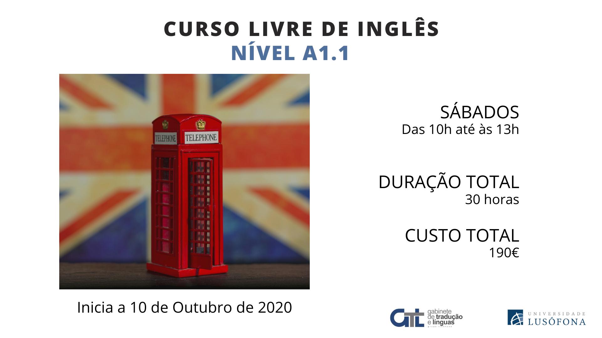 Curso Livre de Inglês – Nível A1.1