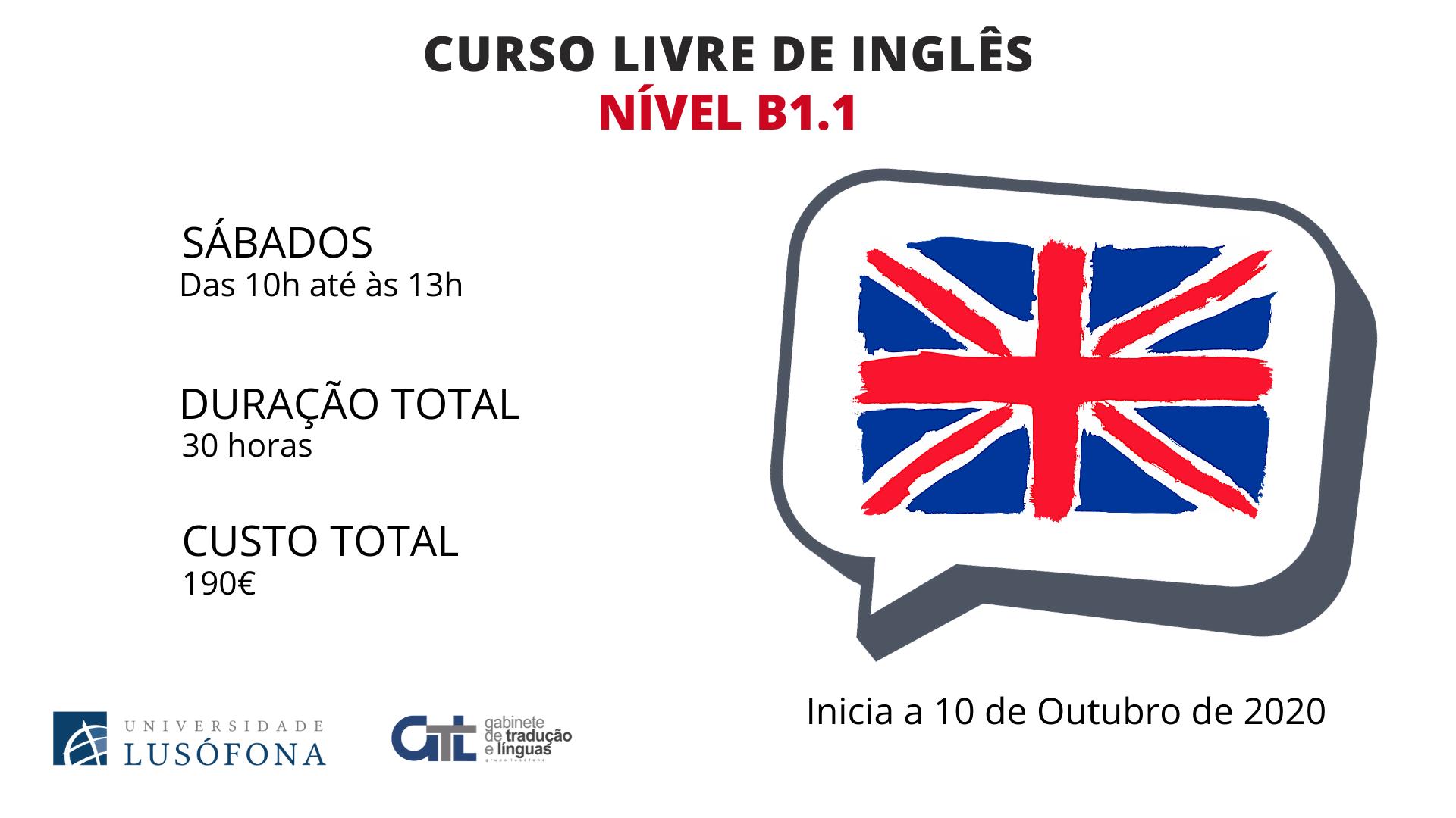Curso Livre de Inglês – Nível B1.1
