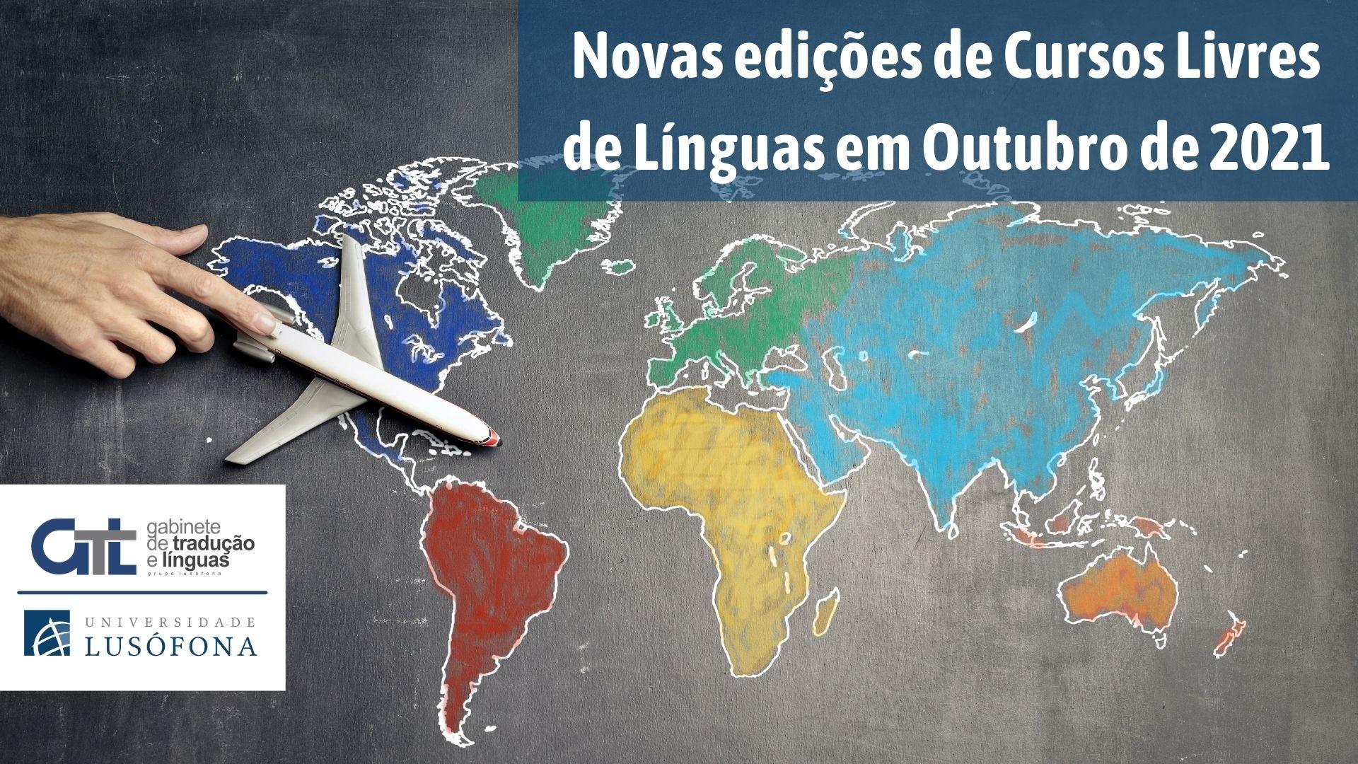 Novos Cursos Livres de Línguas em outubro de 2021!